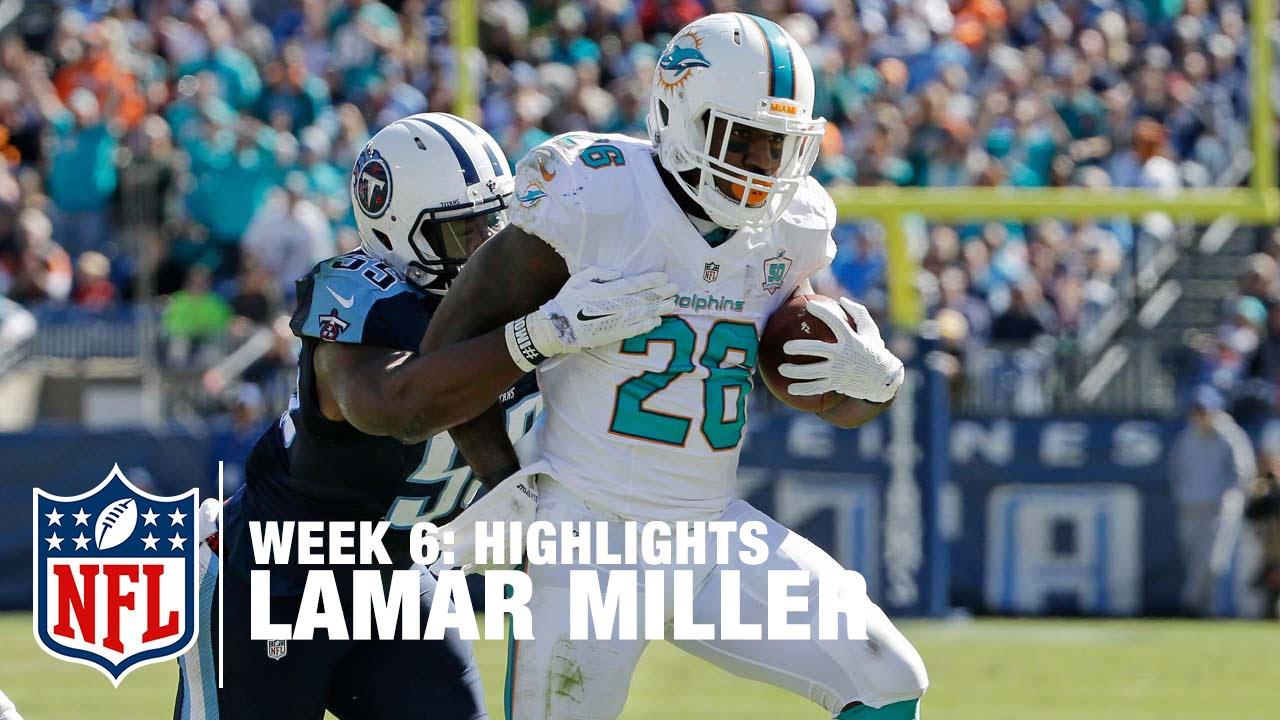 best service 6d8d3 b30d2 Lamar Miller Highlights (Week 6) | Dolphins vs. Titans | NFL