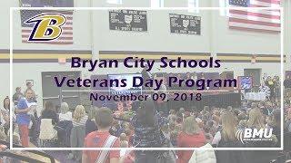 Bryan City Schools Veterans Day Program - 11/09/18