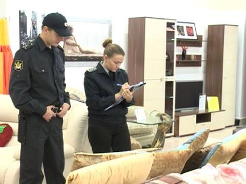 В Вологде судебные приставы арестовали партию мебели