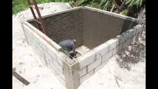 Repeat youtube video Tutorial para la construcción de una cisterna de agua pluvial (10m3)