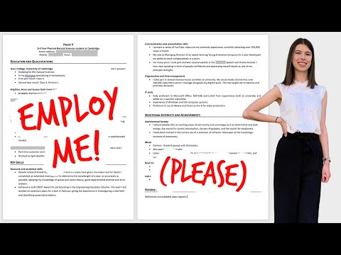 GUIDE TO WRITING A CV OR RESUME FOR GRADUATE JOBS & INTERNSHIPS   no work experience? fear not!