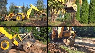 Koparka dla dzieci na budowie w akcji | Maszyny budowlane