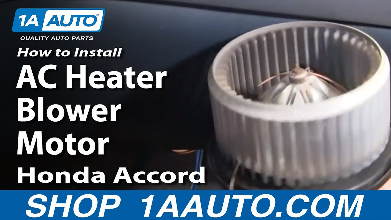 how to replace blower motor with fan cage 98 02 honda accord [ 1280 x 720 Pixel ]