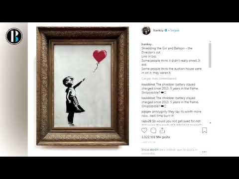 Banksy quería que Girl With Balloon se destruyera totalmente