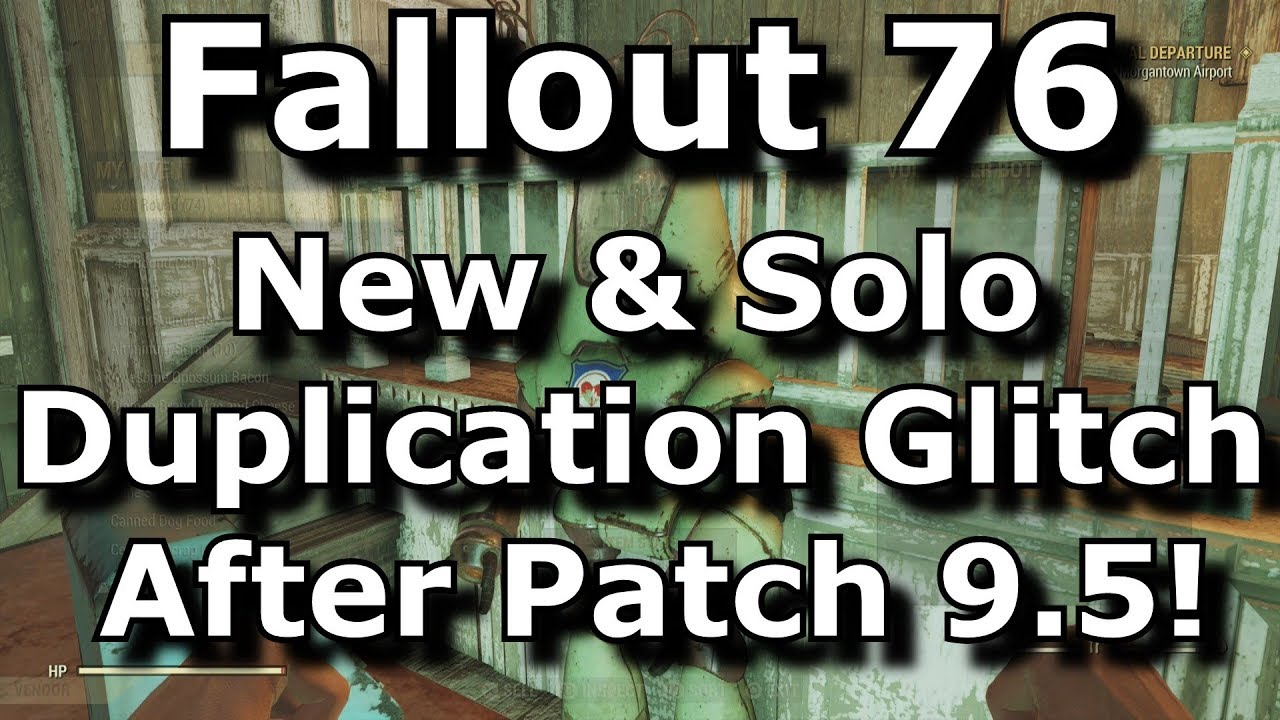 Fallout 76 New Solo Duplication Glitch After Patch 9 5! Vendor Duping  Exploit! (Fallout 76 Glitches)