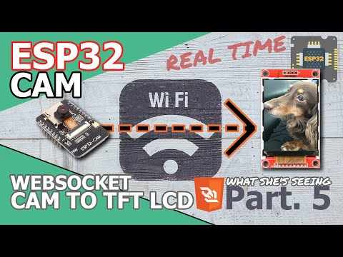 ESP32 CAM | Tutorial - [Part.5] In wireless directly, connecting ESP32CAM to ESP32 (feat. TFT LCD) thumbnail