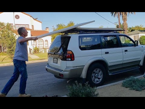 Build a roof rack for SUV with metal fencing
