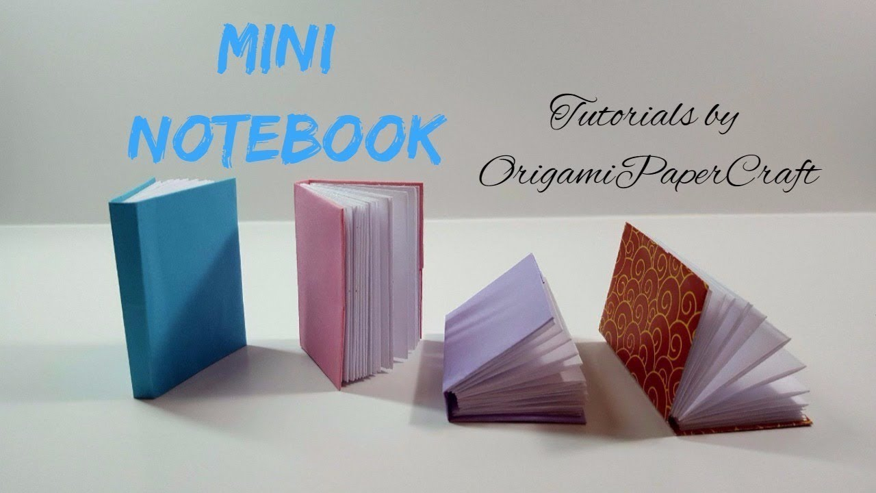 how to make a origami mini notebook