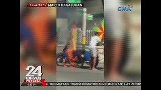 24 Oras: Tricycle, biglang nagliyab