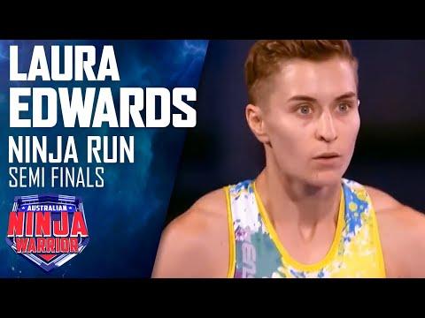 Ninja Run: Laura Edwards (Semi Final) | Australian Ninja Warrior 2018