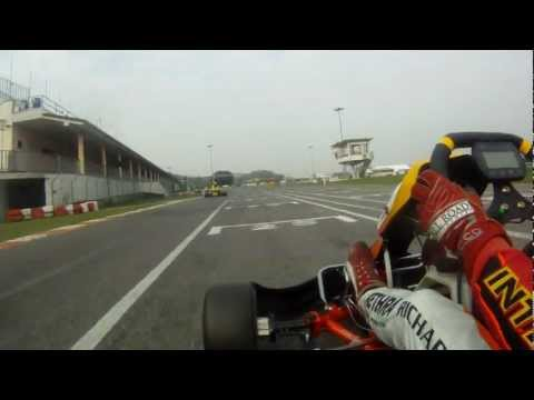 Onboard video at lonato with ; Charles Leclerc