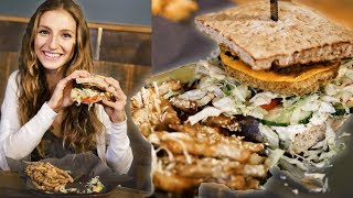 WHAT I EAT IN A DAY VLOG | FULL DAY OF EATING + EPIC VEGAN BURGERS