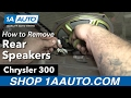 How to Replace Rear Parcel Shelf Speakers 05-10 Chrysler 300