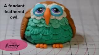 Как сделать сову из мастики/How to make a fondant feathered owl.