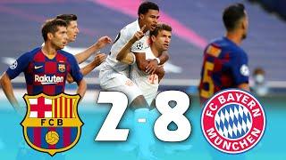 Fc barcelona vs bayern munich 2-8 champions league channel barcel...