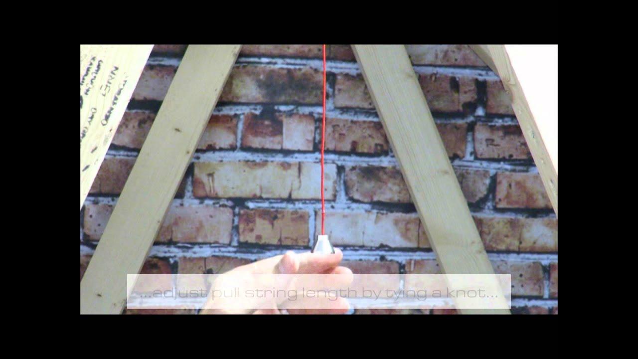 Installing The Loft Light Youtube Wiring Diagram For