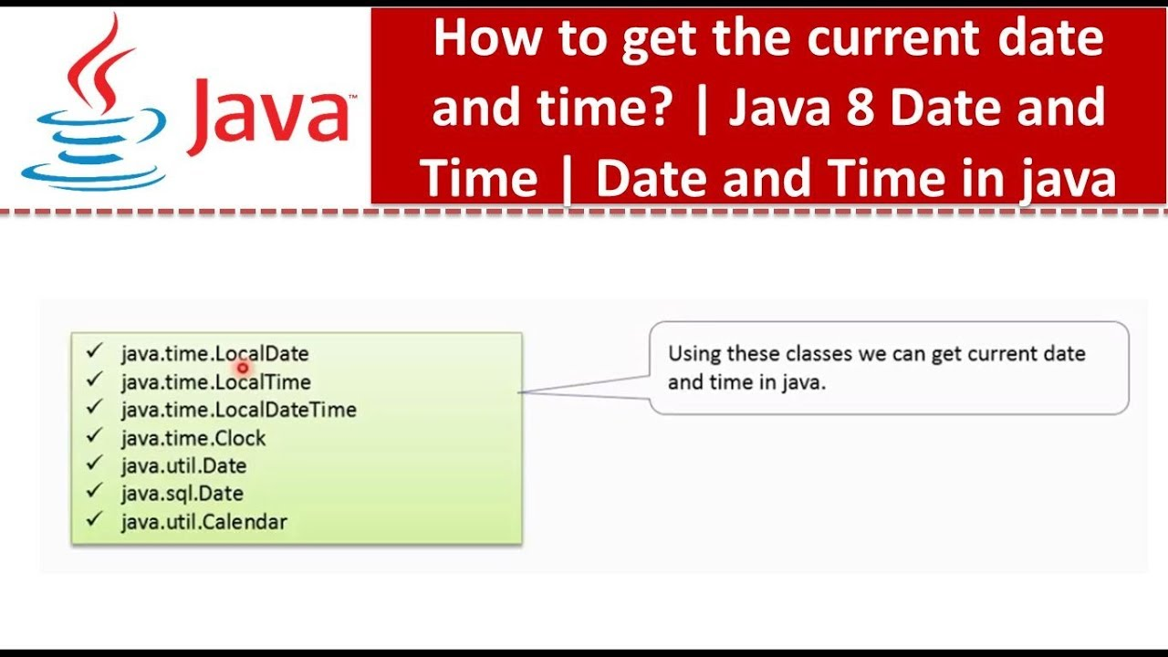 getting current date in java