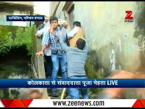 GJM supporters  beat up BJP ministers in Darjeeling