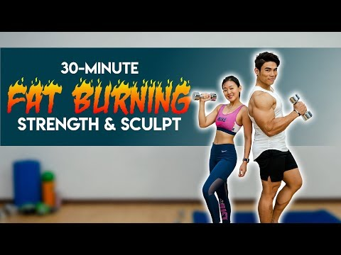 30-Minute Strength & Sculpt Fat Burning Circuit (Burn 300Cals!) | Joanna Soh