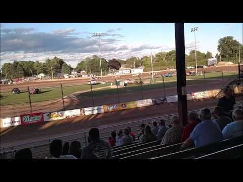 Plymouth Dirt Track Grand National Heat Races mp4 6 24 2017