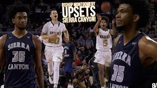 Sierra Canyon TAKEN DOWN By Jordan Shakel & Ethan Thompson! Bishop Montgomery PLAYOFF UPSET VICTORY!