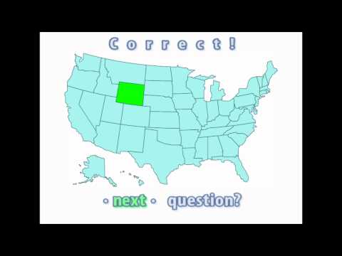 Interactive United States Map Quiz - Correct Wyoming Location