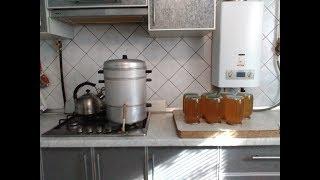 Натуральный абрикосовый сок на соковарке времен СССР.