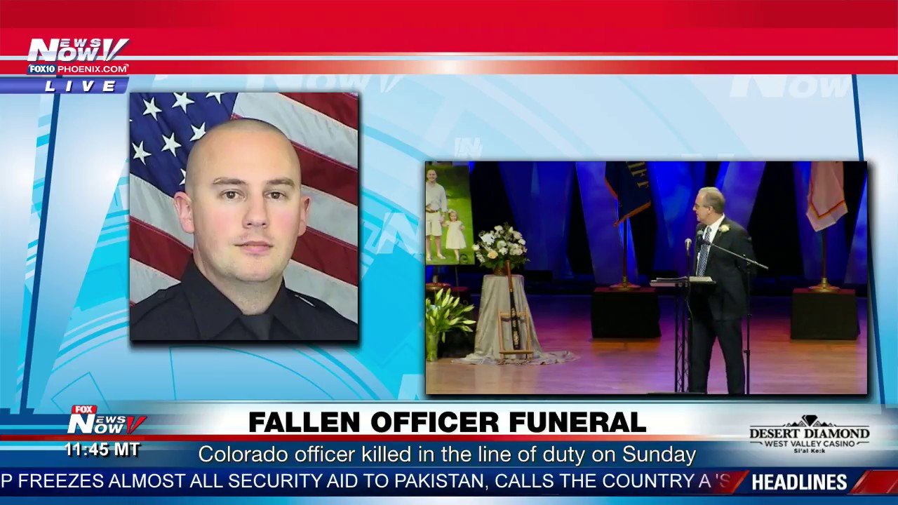 EMOTIONAL: Father Of Fallen Colorado Officer Speaks At Son's Funeral