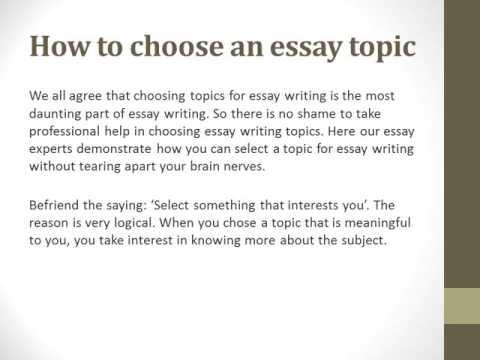 best essay writing topics
