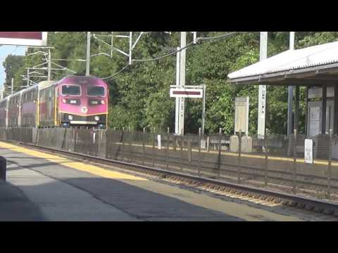 *HD* Afternoon Rush Hour activity on the Northeast Corridor (South Attleboro MA)