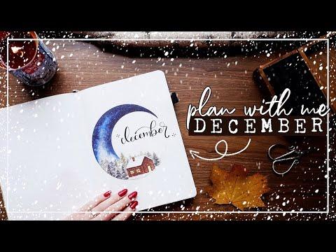 PLAN WITH ME   December 2019 Bullet Journal Set Up