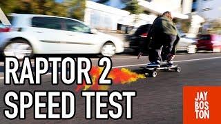 ENERTION RAPTOR 2 - SPEED TEST - YOU WONT BELIEVE THE TOP SPEED!