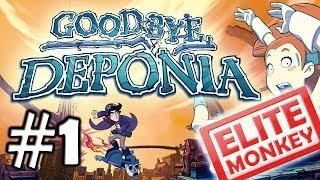 Goodbye Deponia - Walkthrough Part 1 - Tutorial [Commentary] [HD PC]