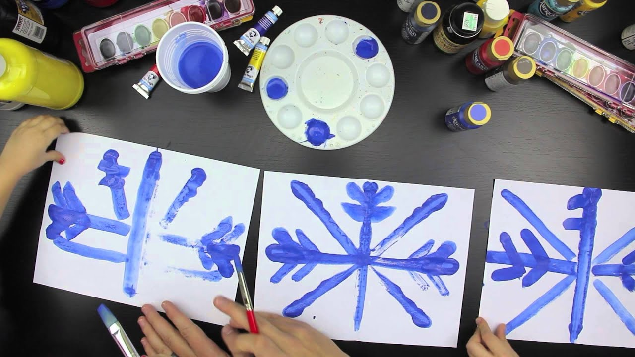 how to paint a snowflake with symmetry youtube