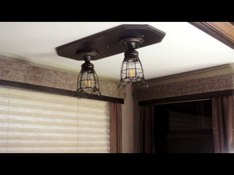 Cool mood lighting above my RV's dinette table. - YouTube