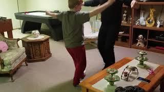 Learning  to dance Greek