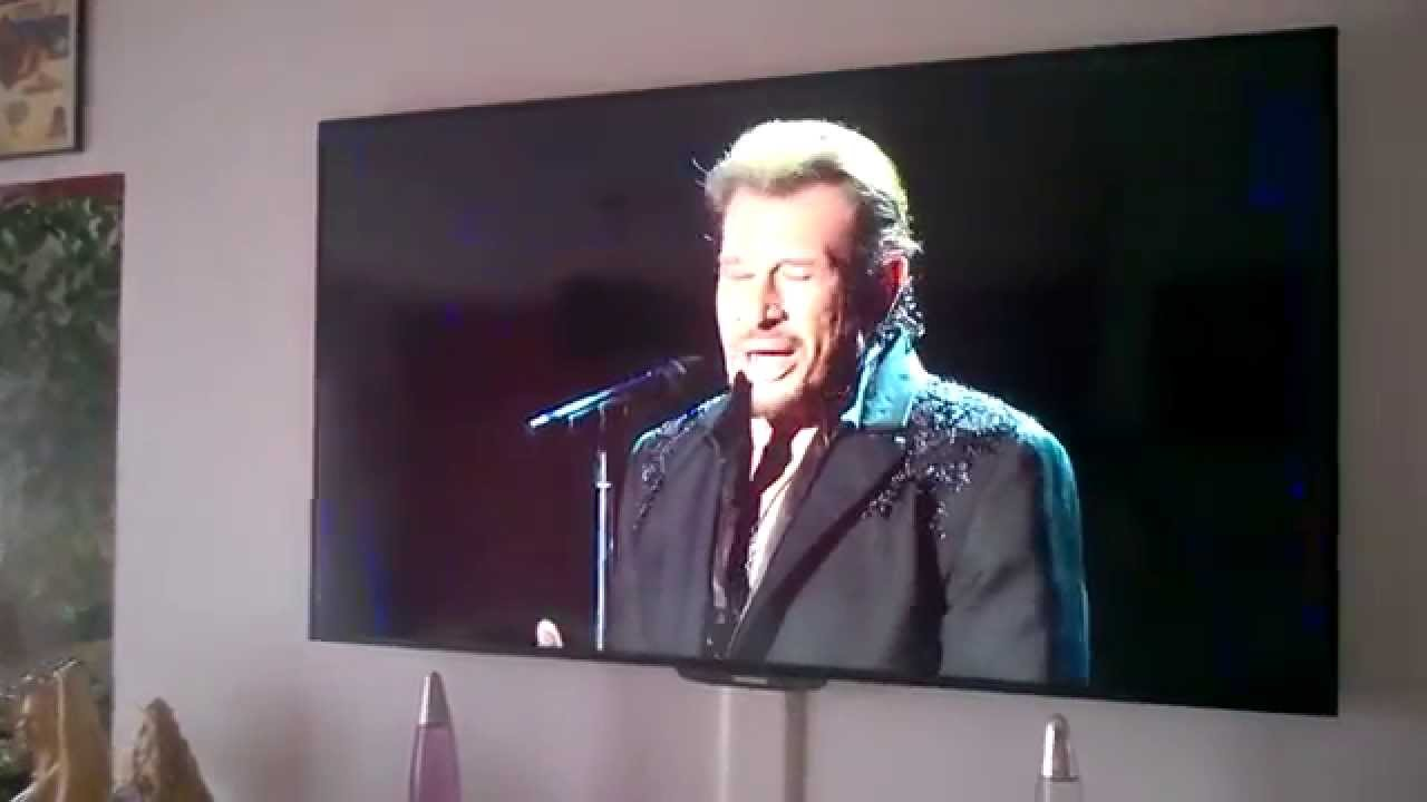 johnny hallyday sur tv led 165cm youtube. Black Bedroom Furniture Sets. Home Design Ideas