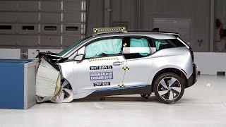 2017 BMW i3 moderate overlap IIHS crash test