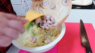 【アラフィフおでぶの料理】粉チーズ入りビックチキンカツ&ゆずこしょう入りマカポテサラダを作る!