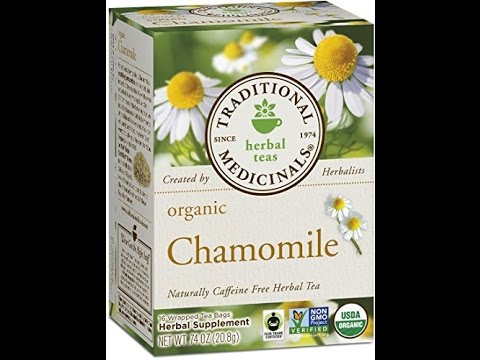 traditional medicinals organic chamomile 16 count boxes pack of 6