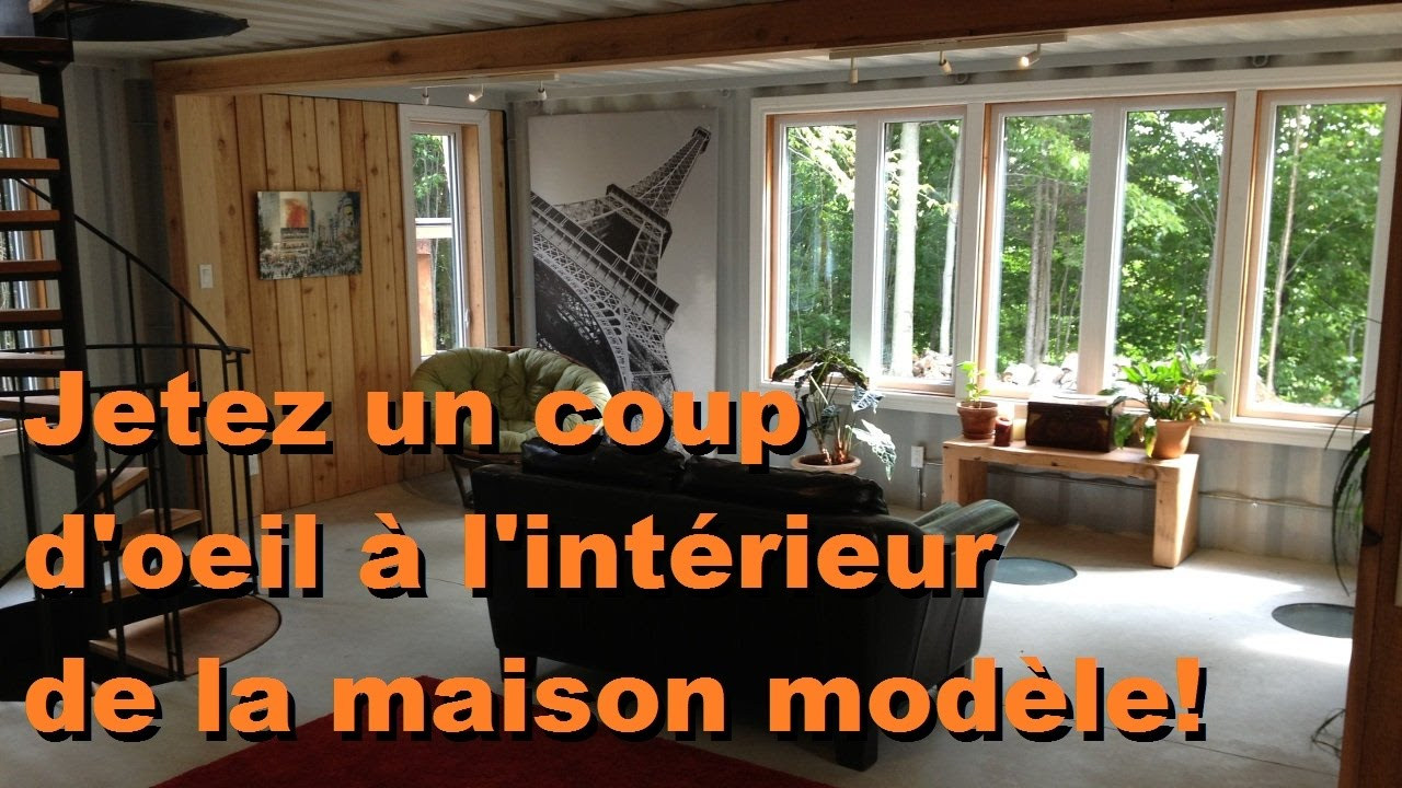 comment d corer minimalement sa maison conteneur visite maison modele youtube. Black Bedroom Furniture Sets. Home Design Ideas