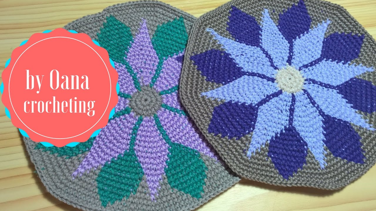 Tapestry crochet 2- by oana - YouTube