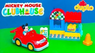 MICKEY MOUSE CLUBHOUSE Disney Lego Duplo Mickey Mouse Workshop Mickey Video Toy Unboxing