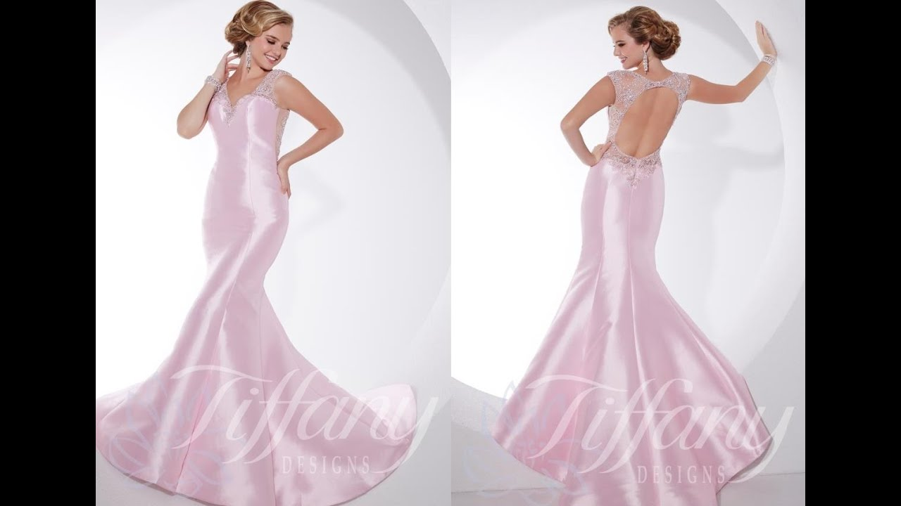 Tiffany Prom Dress 16079 from Peaches Boutique, Chicago, IL - YouTube