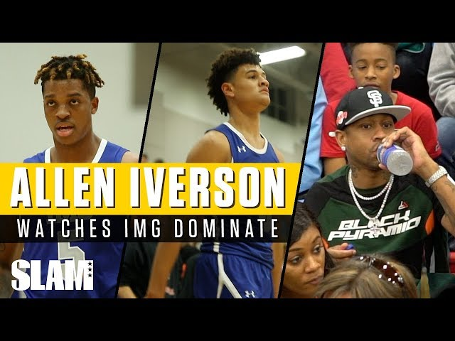 Allen Iverson Watches the IMG Show!