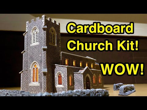 Amazing Cardboard Church Model Kit! (Metcalfe N Gauge Parish Church)