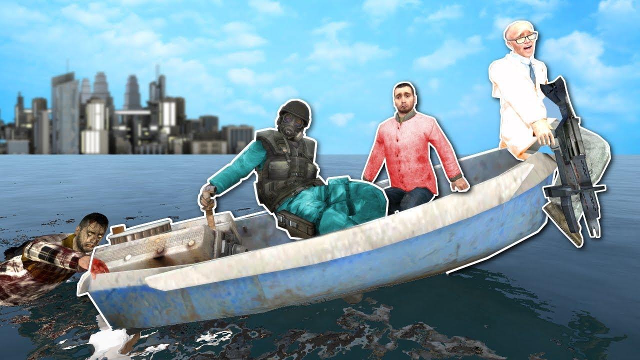 BOAT BUILDING IN ZOMBIE APOCALYPSE! - Garry's Mod Gameplay - Gmod Zombie Apocalypse Roleplay!