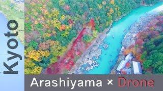 綺麗すき る日本の絶景 京都嵐山紅葉シース ント ローン空撮arashiyama