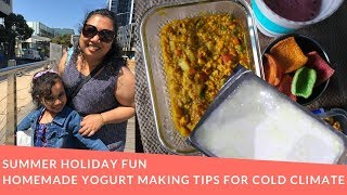 Homemade Curd Making Tips For Cold Climate|Summer School Holiday Fun Bengali Family Vlog