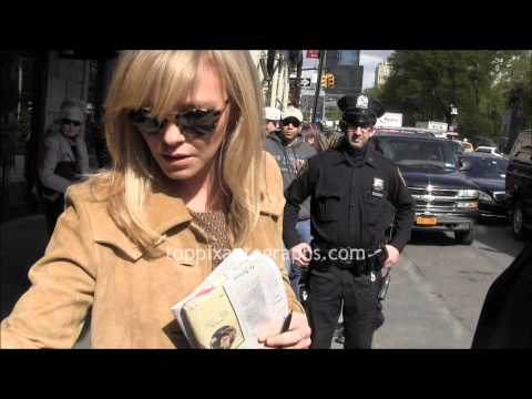 Kelli Giddish  Signing Autographs at her hotel in NYC